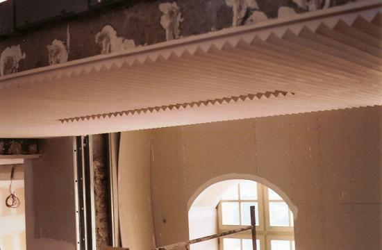 plafond et habillage mural en staff  prefecture de Rouen